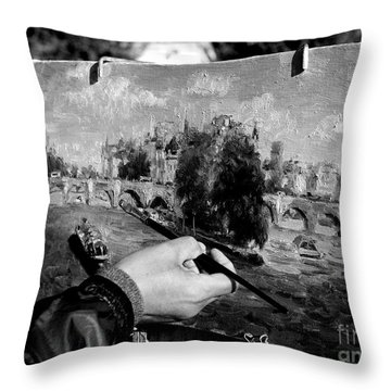 Pic...k The Artist Throw Pillow