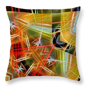 Pick Up Sticks In Geometry Throw Pillow by Ron Bissett
