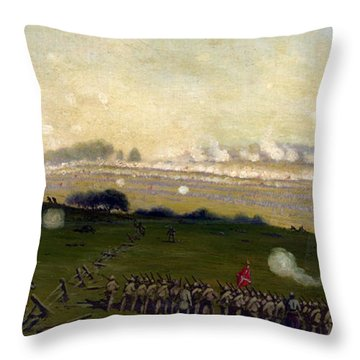 Picketts Charge On Union Center 3pm Throw Pillow