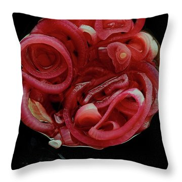 Pickled Red Onions Throw Pillow
