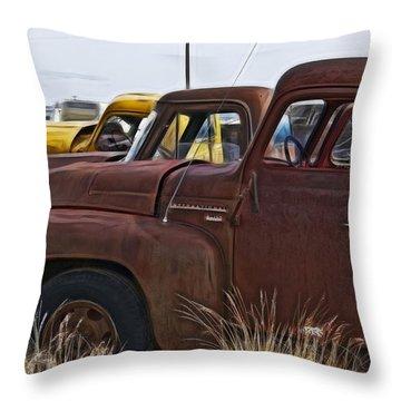 Pickup Cabs 2 Throw Pillow