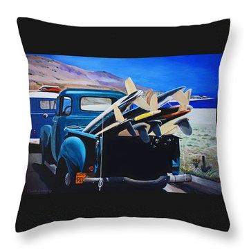Pickup Truck Throw Pillow by Chikako Hashimoto Lichnowsky