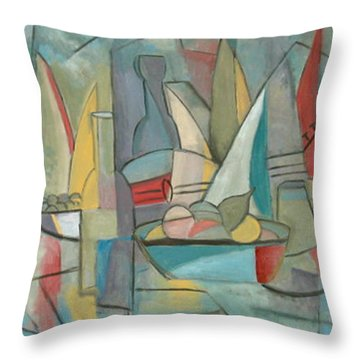Picnic In July Throw Pillow by Trish Toro