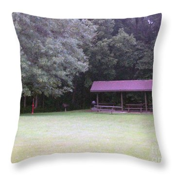 Picnic Shelter Throw Pillow