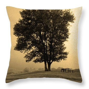 Picnic Under The Tree Throw Pillow