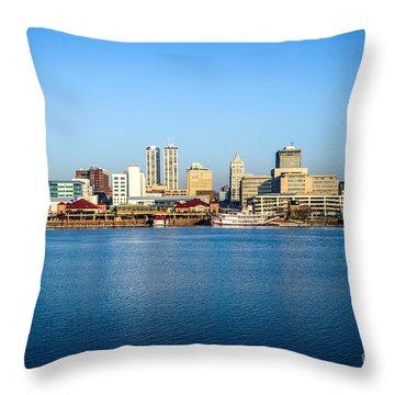Picture Of Peoria Illinois Skyline Throw Pillow by Paul Velgos