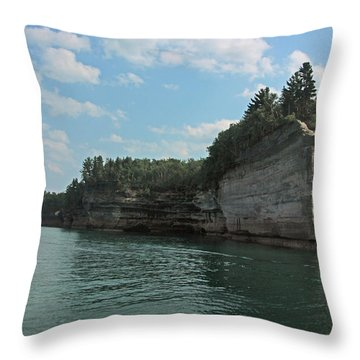 Pictured Rocks Battleship Formation Throw Pillow