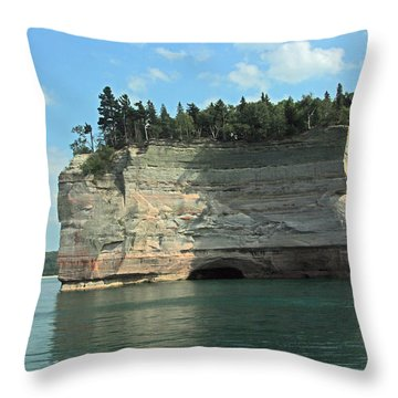 Pictured Rocks Battleship Formation Side View Throw Pillow