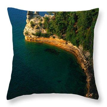 Pictured Rocks National Lake Shore Lake Throw Pillow