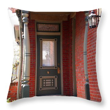 Picturesque Porch Throw Pillow by Laurel Talabere
