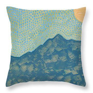 Picuris Mountains Original Painting Throw Pillow by Sol Luckman