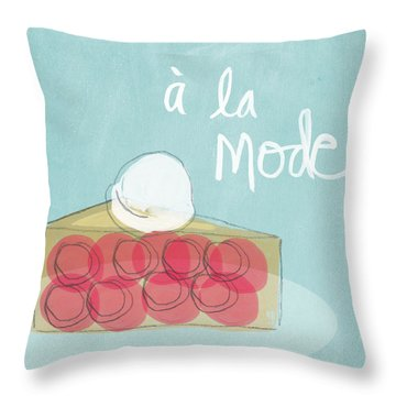 Pie A La Mode Throw Pillow