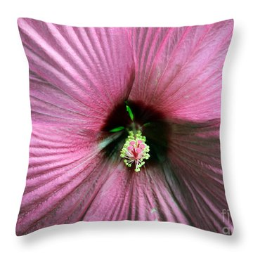 Pie Plate Hibiscus Throw Pillow