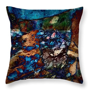 Throw Pillow featuring the digital art Pieces Of History  by Delona Seserman