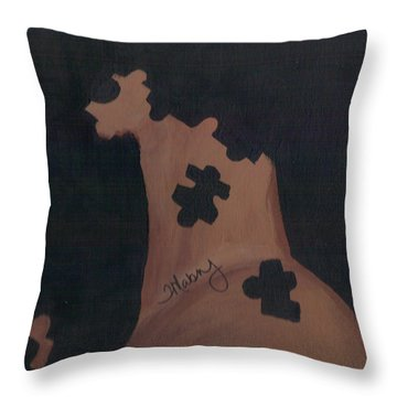 Pieces Of Me Throw Pillow by Ty Mabry
