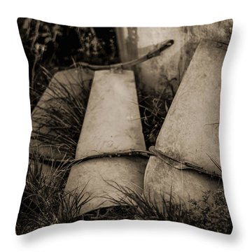 Throw Pillow featuring the photograph Pieces Of The Windmill by Amber Kresge