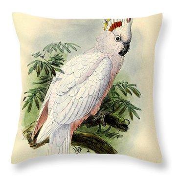 Pied Cockatoo Throw Pillow