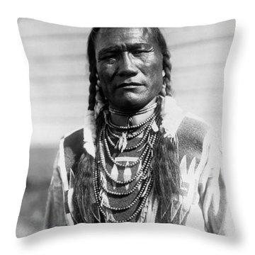 Piegan Indian Man Circa 1909 Throw Pillow