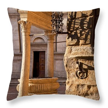 Pienza Tuscany Throw Pillow by Brian Jannsen