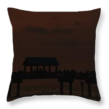 Throw Pillow featuring the photograph Pier 60 Sunset Panorama by Richard Zentner