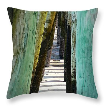 Pier Anchors  Throw Pillow