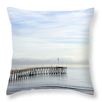Pier Throw Pillow by Gandz Photography