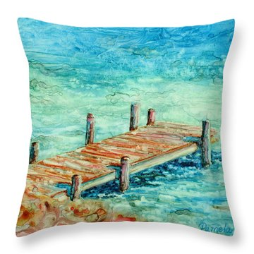 Pier Artistry Throw Pillow
