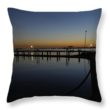 Pier At Chandlers Landing Rockwall Tx Throw Pillow