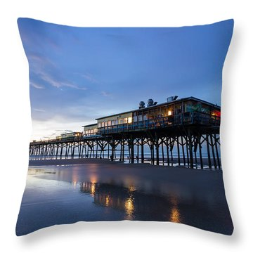 Pier At Twilight Throw Pillow