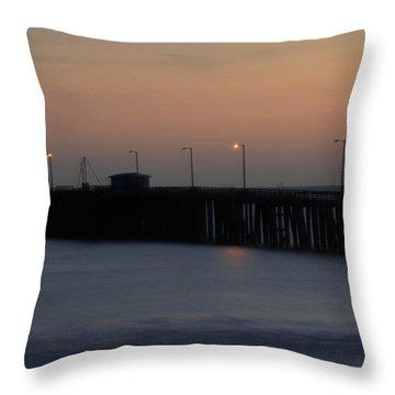 Pier Avilla Beach California  Throw Pillow