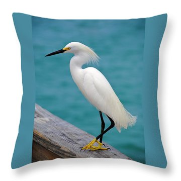 Pier Bird Throw Pillow
