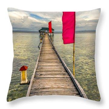 Pier Flags Throw Pillow