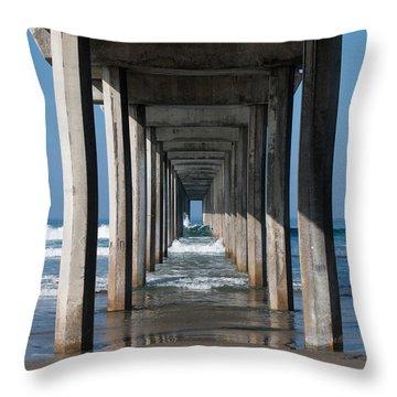 Pier Geometry Throw Pillow