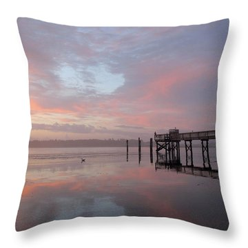 Pier In Pink Throw Pillow