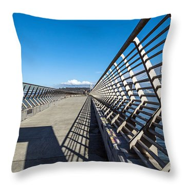 Pier Perspective Throw Pillow