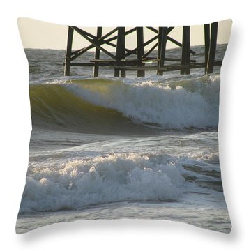 Pier Pressure Throw Pillow by Ellen Meakin