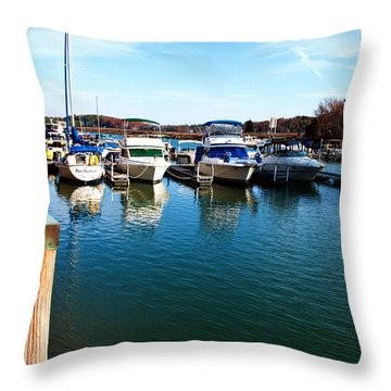 Pier Pressure - Lake Norman Throw Pillow