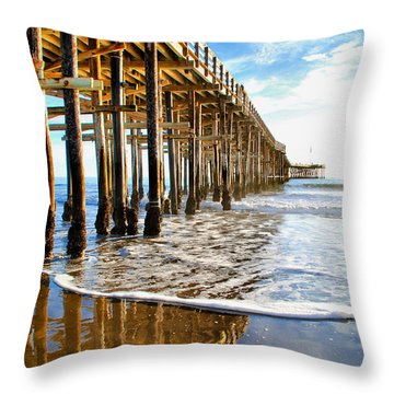 Pier Reflection Throw Pillow