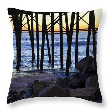 Pier Through  Throw Pillow