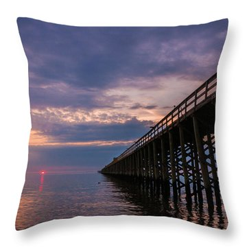Pier To The Horizon Throw Pillow