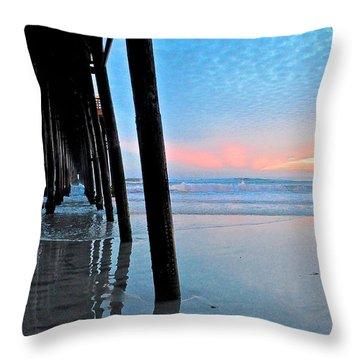 Pier Under Throw Pillow