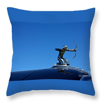 Throw Pillow featuring the photograph 1938 Pierce Arrow by Linda Bianic