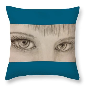 Piercing Eyes Throw Pillow