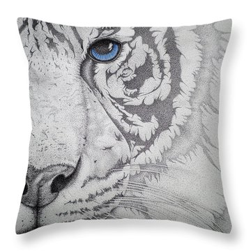 Piercing II Throw Pillow by Mayhem Mediums