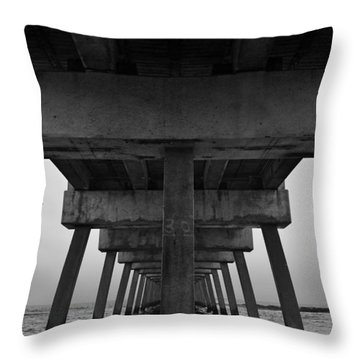 Pierhenge Il Throw Pillow by Laura Fasulo