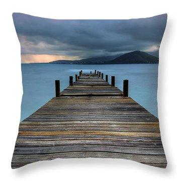 Piering Rain Throw Pillow