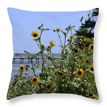 Piering Through Throw Pillow by Leticia Latocki
