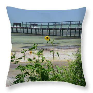 Piering Through Ll Throw Pillow by Leticia Latocki
