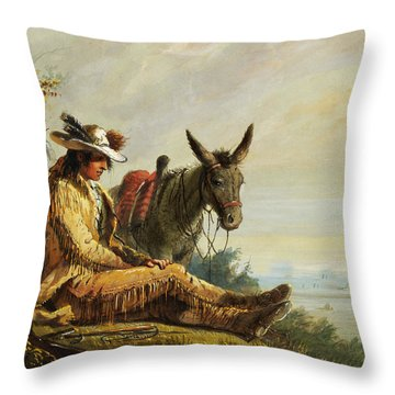 Pierre Throw Pillow by Alfred Jacob Miller