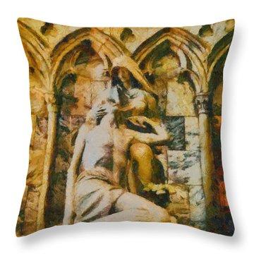 Pieta Masterpiece Throw Pillow by Dan Sproul